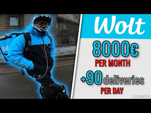 Earning 8000€ per month from food delivery || World's fastest Wolt courier