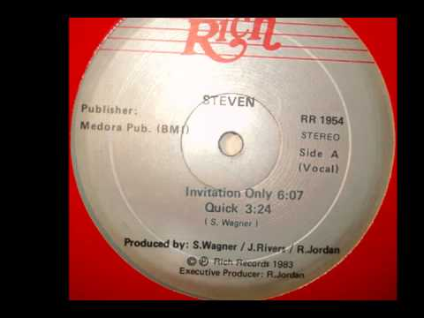 Steven Quick Invitation Rich Records 1983 Rare Boogie Funk