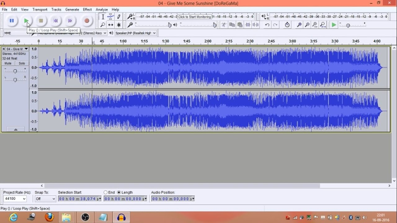 How to make karaoke tracks with Audacity
