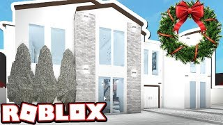 WHITE WINTER WONDERLAND MANSION!!! | Subscriber Tours (Roblox Bloxburg)