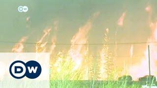 إجلاء الألاف مع انتشار حرائق الغابات في مقاطعة ألبرتا الكندية | الأخبار