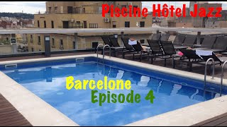 Hotel Jazz Barcelone Espagne la piscine terrase ( Hotel Jazz Barcelona Spain )