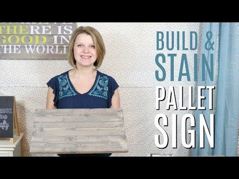 How to Make a Wood Pallet Sign