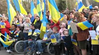 Краматорск за Украину 1(Краматорск, Донецкая область. 17 апреля в городе прошел общественный сход граждан под девизом