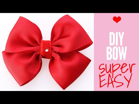 How To Make A Bow Out Of Ribbon Diy Hair Bows Hair Accessories Easy Bow Tutorial