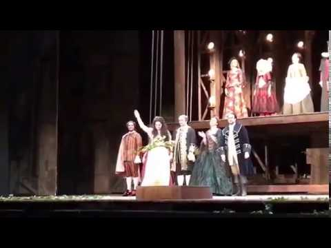 Angela Gheorghiu - Curtain call Adriana Lecouvreur - Royal Opera House 27 feb 2017