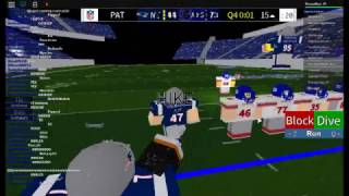 ROBLOX #3 [FE] Football Game Patriots Vs Giants