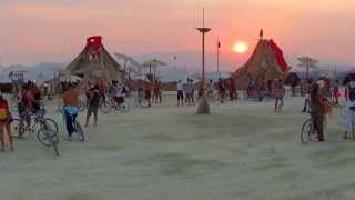 Ray during Sunset Walk at Slackline Oasis Burning Man 2013