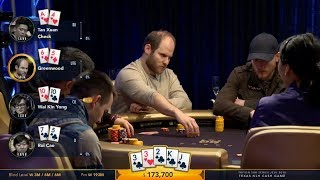 Sam Greenwood Takes a Huge Pot Bluffing 2 Flushes with Only 6 High