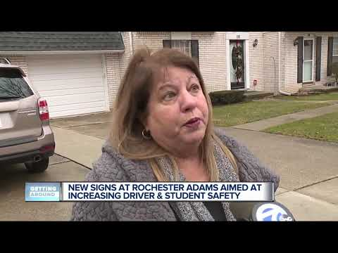 New signs at Rochester Adams High School aimed at increasing driver, student safety