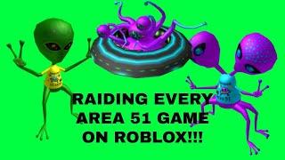 RAIDING EVERY SINGLE AREA 51 GAME ON ROBLOX!!!