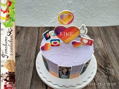 Оформление торта в стиле ЛАЙКИ