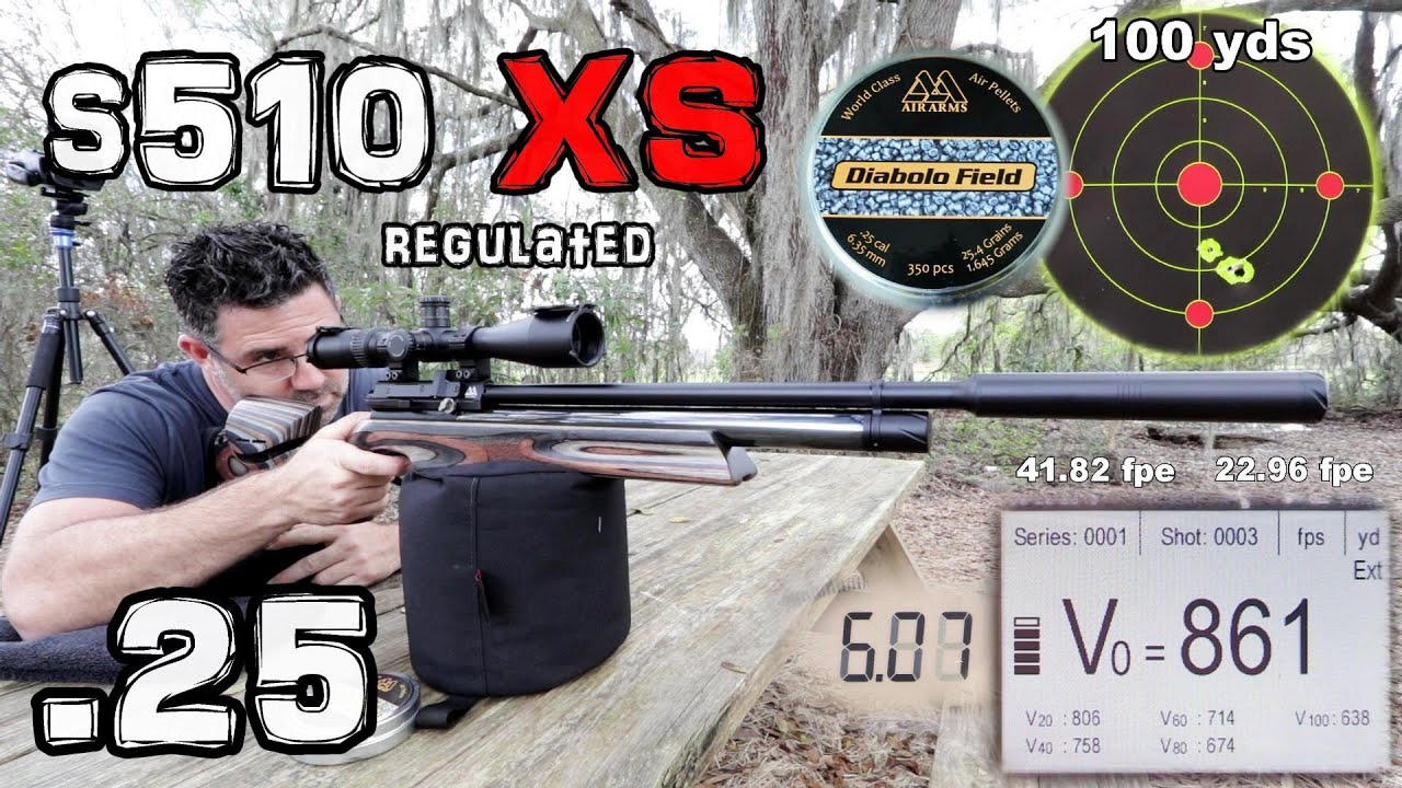 Air Arms s510 XS Regulated  25 - FULL REVIEW (RDW)