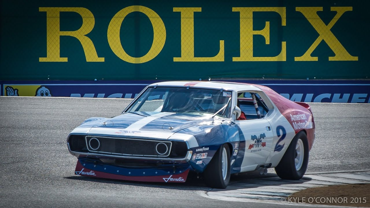 Vintage Trans-Am Race Car Engines Warming Up at Laguna Seca Rolex ...
