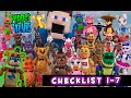 Five Nights at Freddy's FUNKO Articulated Series 1-7 Checklist 5 inch Figures : FNAF Security Breach