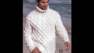 Джемперы Мужские, Вязаные Спицами - 2019 / Shirts Men's Knitting / Shirts Männer-Stricken