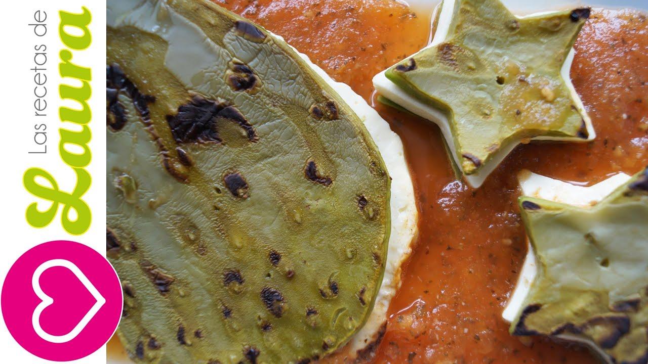 Nopales Rellenos de Queso en Salsa de Tomate  Mexican