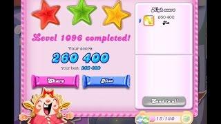 Candy Crush Saga Level 1096    ★★★   NO BOOSTER