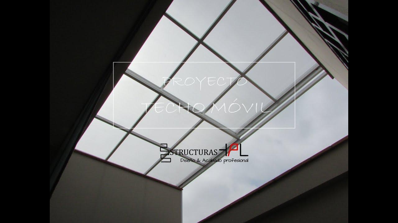 Instalaci n de techo m vil con cobertura traslucida de - Tragaluces para tejados ...