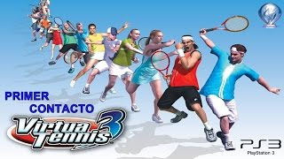 Primer Contacto: Virtua Tennis 3 (Gameplay en Español, Ps3)