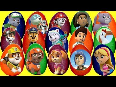 Opening Lots Of Paw Patrol Mystery DIY Play-Doh Eggs