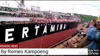 Peluncuran kapal tanker PANDERMAN