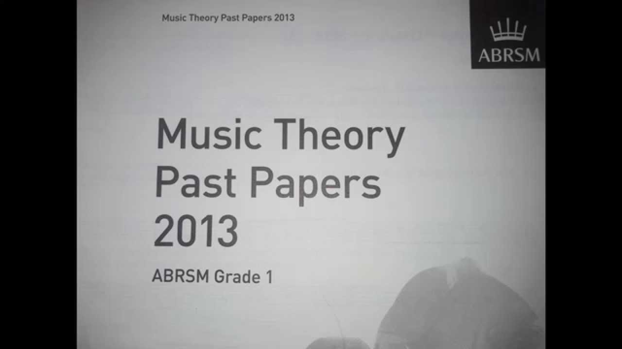 Music theory past papers 2013 grade 1 Test A- Ex 8 - YouTube