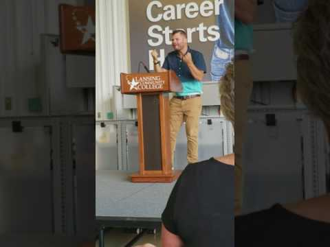 Jordan Jones Lansing Community College Aviation Maintenance School speech
