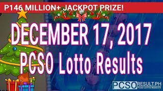 PCSO Lotto Results Today December 17, 2017 (6/58, 6/49, Swertres, STL & EZ2)