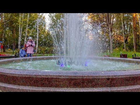 Кулебаки - светодинамический фонтан