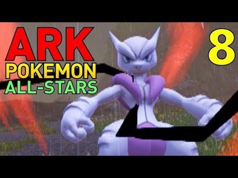 [8] Mewtwo's MegaEvolutions! Mewtwo X! (ARK Pokemon All-Stars Multiplayer)