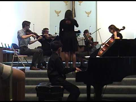 Teenage Dream piano cover by Colin accompanied by string quartet