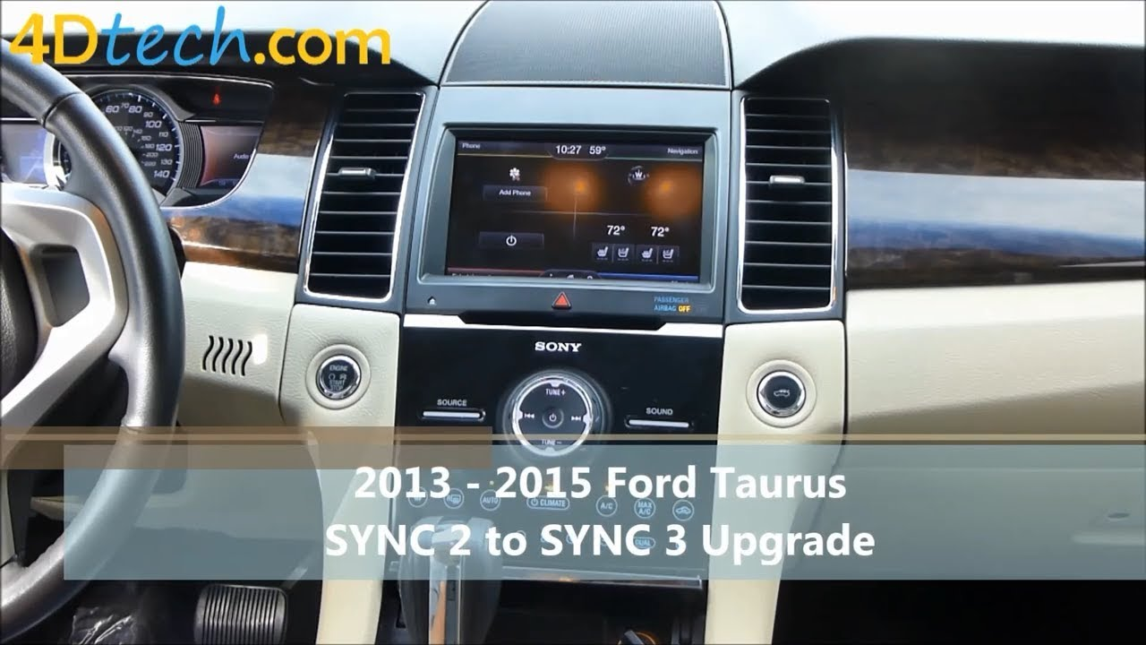 sync 2 to sync 3 upgrade 2013 2015 ford taurus youtube. Black Bedroom Furniture Sets. Home Design Ideas