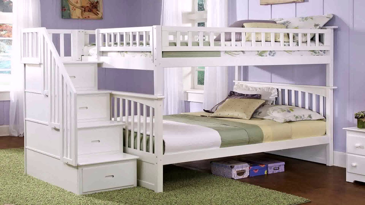 Enterprise Twin Over Full Bunk Bed With Stairs And Desk