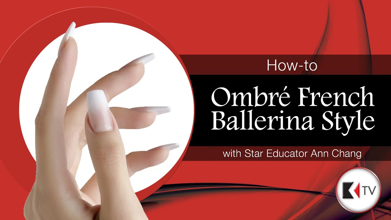 Ombre French Ballerina Style Nails presented by Kupa Inc