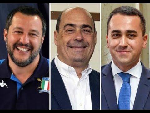 Governo in bilico Salvini 'M5S gia' governa in Europa con il PD' Editoriale di T  Italia