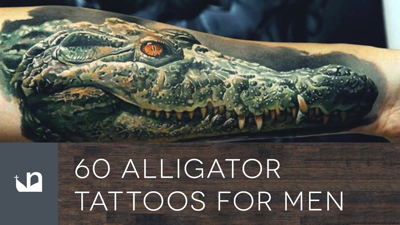 60 Alligator Tattoo Designs For Men – Cool Crocodiles