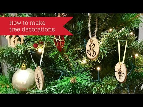 Beginners How To Make A Christmas Tree Decoration Using Pyrography Cat And Snowflake Designs Youtube