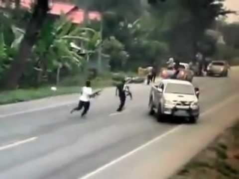 ภาพเหตุการณ์ยิงถล่มทหารที่ ปัตตานี