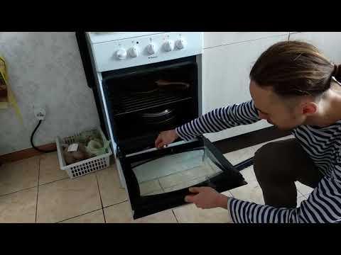 Как снять стекло с духовки ханса видео