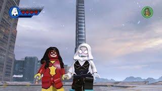 Spider-Gwen VS Spider-Woman - LEGO MARVEL Super Heroes 2 (Open World)