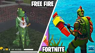 FREE FIRE wants to be like FORTNITE! Dances, Skins and Constructions! 🙄🤔