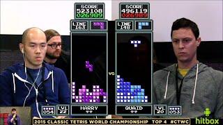 Top 4 - Harry Hong vs Sean Ritchie - Classic Tetris World Championship 2015