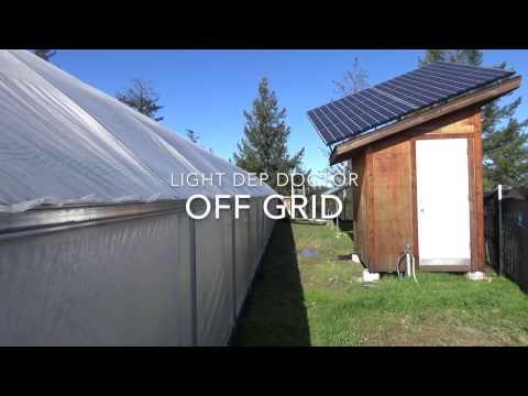 Off grid Solar Light Dep Greenhouse