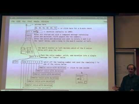 Miller Puckette's Lecture 10 of UCSD class Music 171: Computer Music I