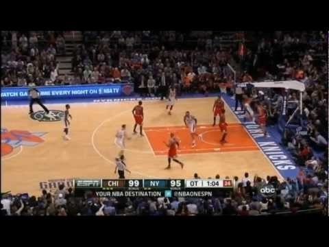 [4.8.12] Carmelo Anthony - 43 points (game winner) vs Bulls (Complete Highlights)