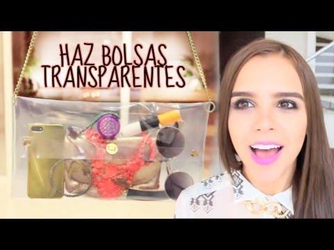 ¡HAZ TU PROPIA BOLSA TRANSPARENTE! (MUY FÁCIL) DIY ♥ - Yuya