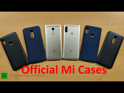 Redmi Note 5 Pro & Note 5 Official Mi Cases & Protector