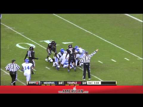 Football Highlights - Memphis Tigers 16, Temple Owls 13 November 7, 2014