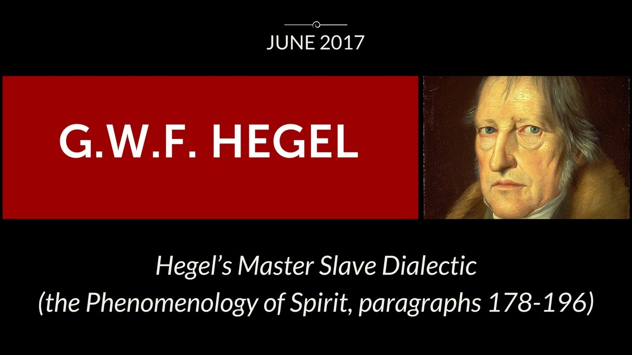 master slave dialect Muhammad kamal hegel summer school 2004 master-slave relationship in hegel's dialectic 'recognition' is what hegel's phenomenology of mind is mainly about its application in the objective basis for social life and history opens a new horizon for understanding of the historicity of human existence.